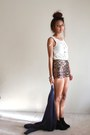 Black-fringe-heavenly-couture-boots-gold-sequined-forever-21-shorts