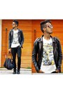 Black-leather-perfecto-jacket-black-gucci-bag-ray-ban-sunglasses