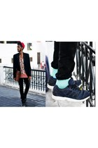 cotton minga berlin socks - Bershka blazer - Zara pants - Adidas sneakers
