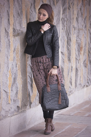 DV by dolce vita boots - Zara jacket - guilted leather BCBG Maxazria bag