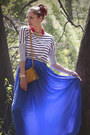 Burnt-orange-across-body-massimo-dutti-bag-blue-maxi-mango-skirt