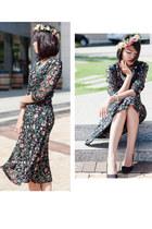 Dooguby dress - black basic heels Vascara heels