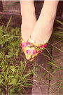 Lime-green-vintage-dress-pink-vintage-flats