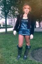 bronze H&M pants - dark brown boutique in Munich boots