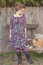 deep purple H&M dress - amethyst Target top