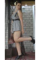 Charlotte Russe - black Diba shoes - brown Mat and Nat purse - white Aldo access