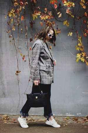 heather gray romwe blazer