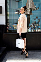 black Zara dress - light pink Topshop blazer - black Love Republic bag