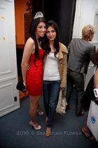 red Roxana Simon coat - beige La Perla shoes - silver Tiara accessories