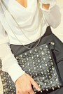 Black-clutch-rinascimento-bag-white-silk-no1-shirt
