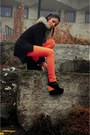 Black-custom-made-blazer-orange-zara-pants-black-acw-wedges-light-brown-co