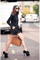 black leather R shirt