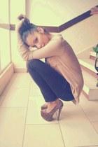 platform Bebo heels - simple Zara jeans - plain Bershka skirt