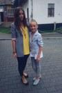 Heather-gray-zara-blazer-light-yellow-plain-asos-dress
