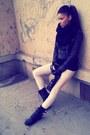 Gray-rocker-new-look-boots-beige-skinny-bershka-jeans