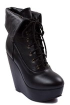 black Lovely shoes wedges