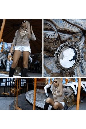 unknown brand scarf - H&M blazer - H&M shorts