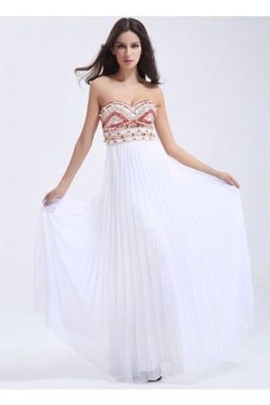 white dress - red dress - blue dress - black v-neckblackbelt dress