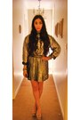 Silver-metallic-vintage-shirt-topshop-skirt
