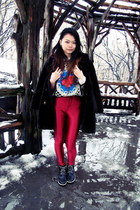tunnelvision coat - baroque roses pixiemarket sweater - American Apparel pants