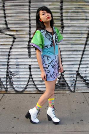 Whitney Manney dress - Jeffrey Campbell boots