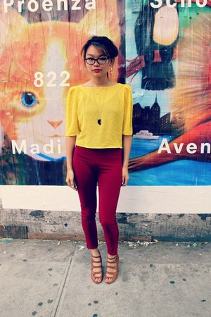 yelow sheer American Apparel blouse