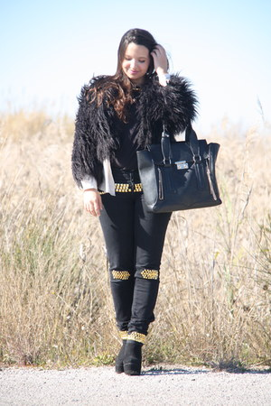 Salsa DIY pants - Ebay boots - Mango coat - VJ Style bag