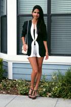thrifted blazer - Steve Madden heels