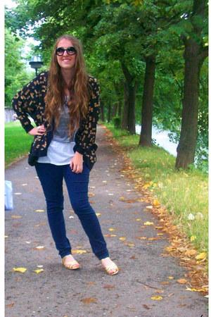 Monki cardigan - H&M top - Zara pants - H&M flats