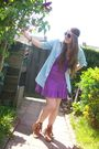 Blue-primark-blouse-purple-amisu-dress-brown-minnetonka-boots-beige-h-m-ac