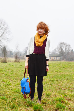 Tom Tailor dress - pieces scarf - PERSUNMALL bag - Tally Weijl cardigan