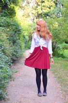 Primark blouse - H&M dress - second hand scarf