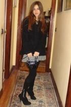 Zara coat - Topshop skirt - Guess purse - Zara panties - Zara shoes