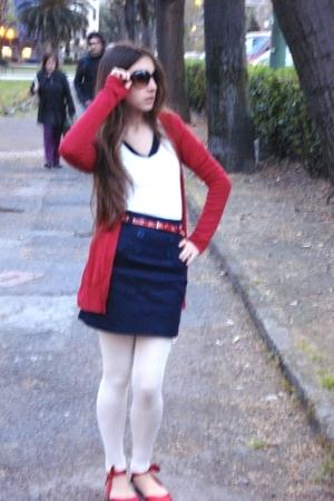 Zara coat - Bershka vest - Mango t-shirt - BLANCO skirt - Stradivarius panties -