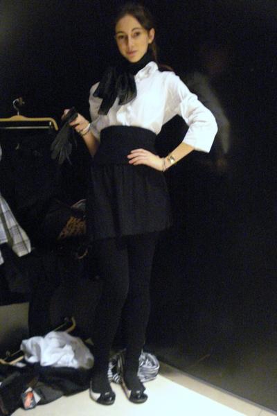 Liberto blouse - Primark skirt - scarf - Zara shoes - Zara panties