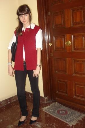Stradivarius blouse - Liberto shirt - Bershka pants
