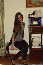 Bershka t-shirt - Bershka top - Bershka pants - BLANCO shoes