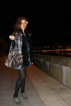 Primark dress - Sfera coat - Zara shoes - BLANCO purse - Wolford panties