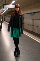 green Colcci dress - black Bershka boots - black Pimkie jacket