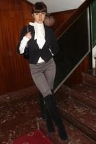Bershka shirt - Bershka blazer - Chanel purse - Bershka leggings - Zara boots