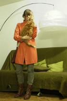 Xanaka coat - NafNaf jeans - ANDRE boots