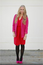 red Loft dress - hot pink H&M blazer
