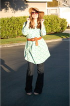 madewell hat - Target dress - Loft jeans - Loft belt - Nyla wedges