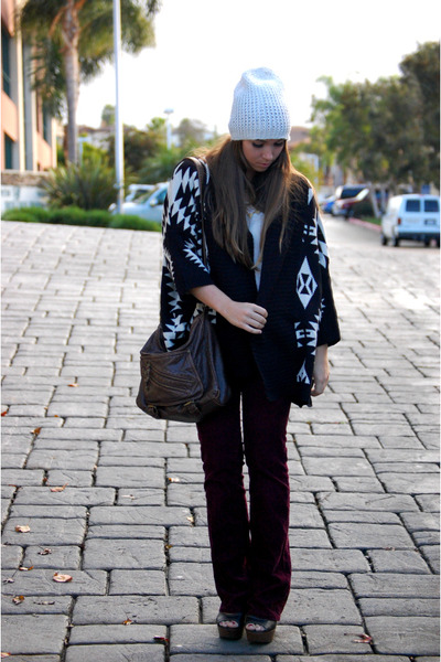 black aztec print Sprightly So sweater