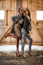 leopard skirt Zara skirt - zebra coat Zara coat - zebra pants Anouk pants