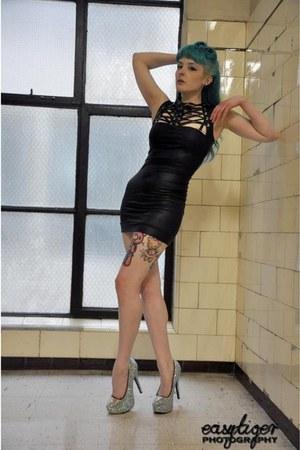 glitter heels Bordello heels - tenticle threads dress