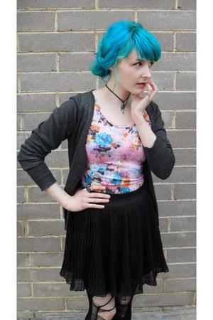 spike ring tattooed zombie ring - skirt - cardigan - Dangerfeild bodysuit