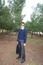 emporio armani sweater - shirt - Sfera jeans - Romentino shoes - Ray Ban sunglas