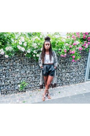 H&M shorts - Tally Weijl top - Vila cardigan - Mango sandals