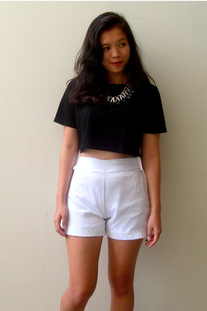 organza DIY shorts
